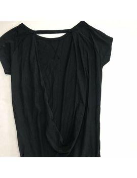 Bobi Solid Black Supreme Jersey Short Sleeve Open Back Romper Size Small by Ebay Seller