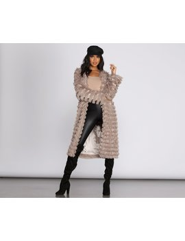Long Line Fringe Coat by Windsor