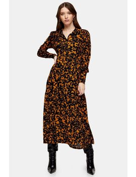 Floral Print Mesh Tiered Cardigan Dress by Topshop