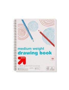 8.5x11 Spiral Drawing Pad   70ct Medium Weight   Up&Up™ by Up&Up