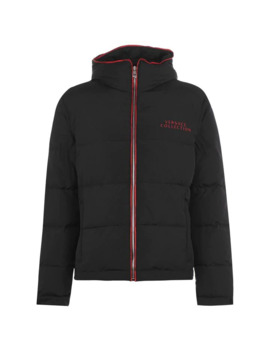 Logo Padded Jacket by Versace Collection
