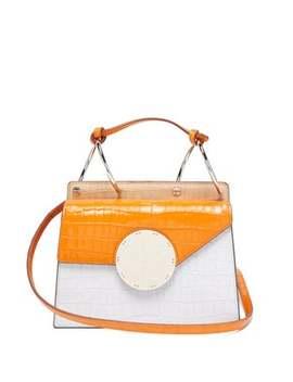 Phoebe Bis Crocodile Effect Leather Bag by Danse Lente
