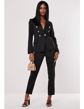 Black Co Ord Military Blazer by Missguided