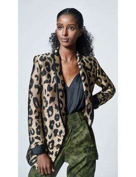 Smythe Salon Blazer Leopard Jacquard by Smythe