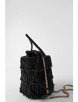 Crossbody Bucket Bag With Beaded Fringing by Zara