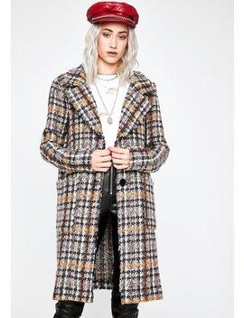 Windy City Tweed Coat by Dolls Kill
