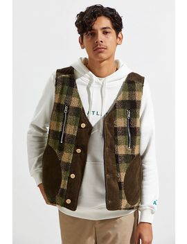 Fried Rice Plaid Reversible Vest by Fried Rice