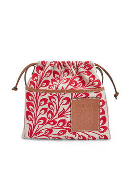 Drawstring Pouch Tiles Small       Red by Loewe