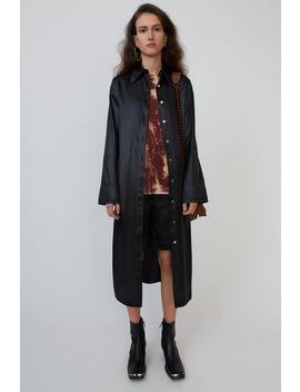 Satin Shirt Dress Black by Acne Studios