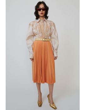 Pleated Skirt Dusty Orange by Acne Studios