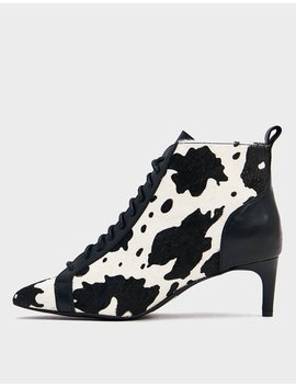 Jest Boot In Cow Print by Intentionally Blank Intentionally Blank