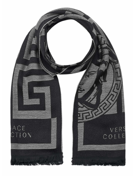 Versace Collection Scarf Black Grey by Versace Collection