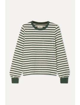 Caressa Striped Cotton Blend Jersey Top by Madewell