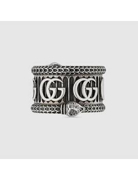 Silver Ring With Double&Nbsp;G by Gucci