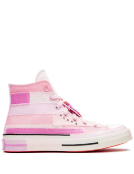 X Millie Bobby Brown Chuck 70 Hi Petal Pink Sneakers by Converse