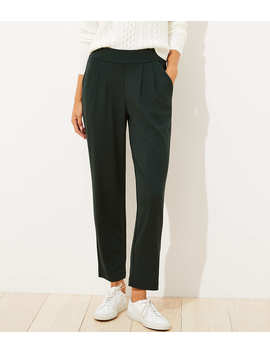 Petite Tapered Pull On Ponte Pants by Loft