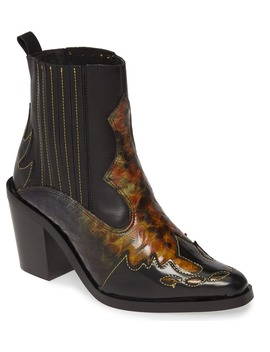 Damen Snakeskin Embossed Leather Chelsea Boot by Kurt Geiger London