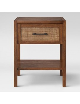 Warwick Wood & Rattan Side Table   Threshold™ by Shop This Collection