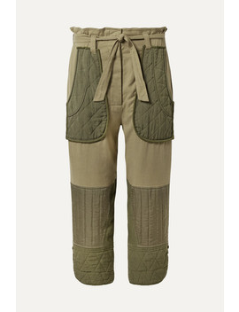 O'keeffe Cropped Cotton Twill And Quilted Canvas Tapered Pants by Sea