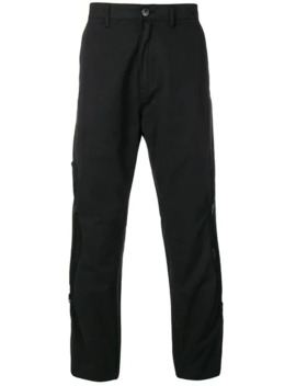 Black Lightweight Zip Trousers by Stone Island Shadow Project