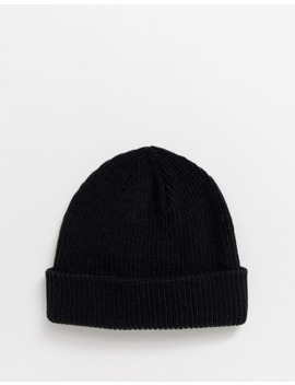 Adidas Small Fisherman Beanie In Black by Adidas Originals