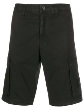 Logo Patch Cargo Shorts by Stone Island