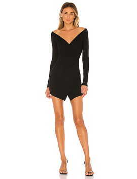 Thali Sweater Dress In Black by Superdown
