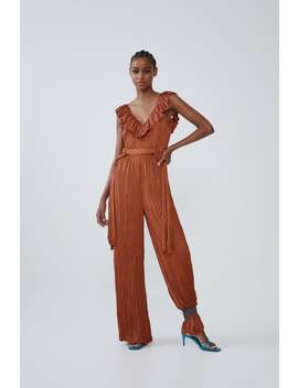 Creased Effect Jumpsuit by Zara