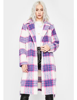 Favored By Society Plaid Coat by Dolls Kill