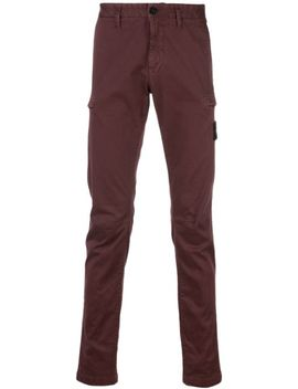 Logo Straight Leg Chinos by Stone Island