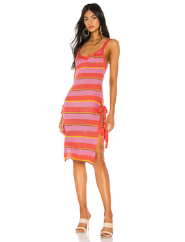 Rayo Dress In Pink Stripe by Tularosa