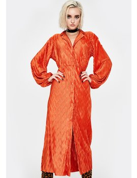 Rust Maxi Shirt Dress by Glamorous