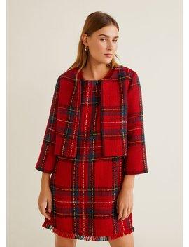 Plaid Tweed Jacket by Mango