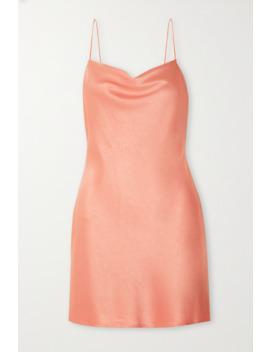 Harmony Draped Satin Slip Dress by Alice + Olivia