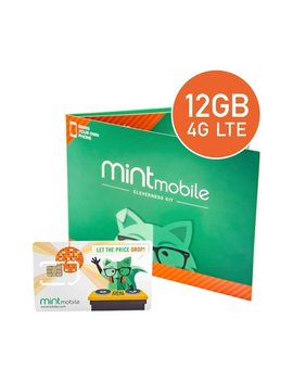 3 Month Prepaid Sim Card Kit by Mint Mobile