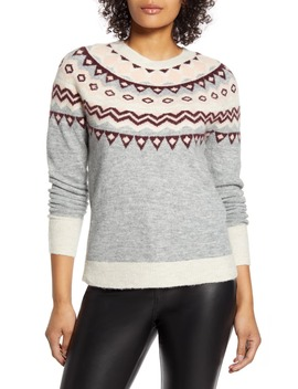X Atlantic Pacific Fair Isle Sweater by Halogen