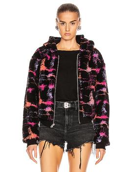 Reversible Fleece Lined Zip Hoodie by John Elliott