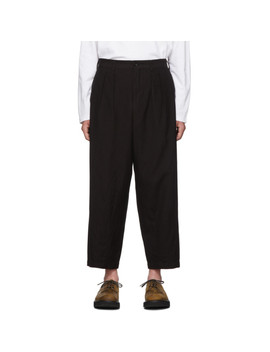Black Wool Gabardine Dyed Trousers by Comme Des GarÇons Homme