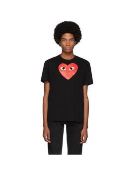 Black Big Heart T Shirt by Comme Des GarÇons Play