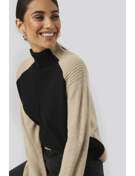 Wool Blend Colour Block Sweater Multicolor by Na Kd Trend