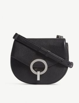 Grained Leather Shoulder Bag by Sandro