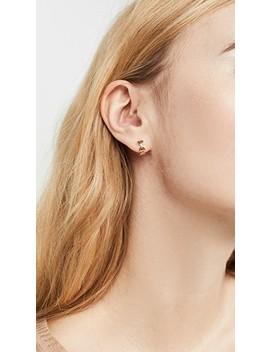14k Evil Eye Link Huggie Earrings by Sydney Evan