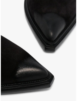 Black Pointed Toe Ankle Boots by Balenciaga