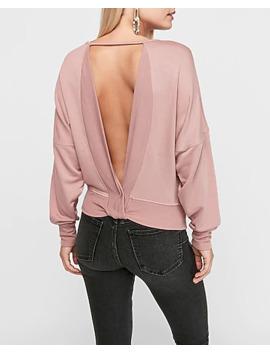 Open Twist Back Sweatshirt by Express