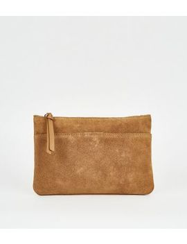 Tan Suede Cross Body Bag by New Look