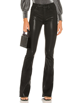 Barbara High Waist Bootcut In Noir Coated by Hudson Jeans