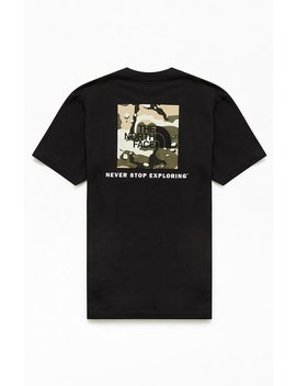 The North Face Black Camo Red Box T Shirt by Pacsun