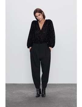 Contrasting Polka Dot Bodysuit by Zara
