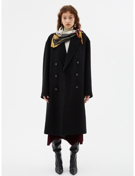 Cashmere New Jonas Oversized Coat Awa273u Black by Andersson Bell For Women