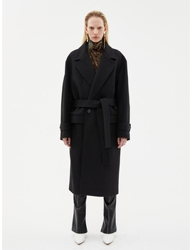 Mattia Military Robe Coat Awa192u Black by Andersson Bell For Women